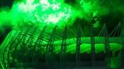Maquete do Estádio Castelão é submetida a teste em tunel de vento