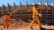 Operário trabalham na reforma do Mineirão. Foto: Sylvio Coutinho/Divulgação