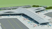 Projeto do Terceiro Terminal do Aeroporto de Guarulhos que deve ser construído para a Copa.