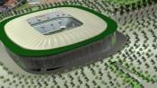 Ilustração de como deve ficar o estádio que será usado na Copa de 2014 em Cuiabá