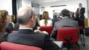 A sala de reuniões do Ethos ficou lotada para a reunião sobre o acordo setorial de distribuição de produtos para saúde. Foto: Pedro Malavolta/Instituto